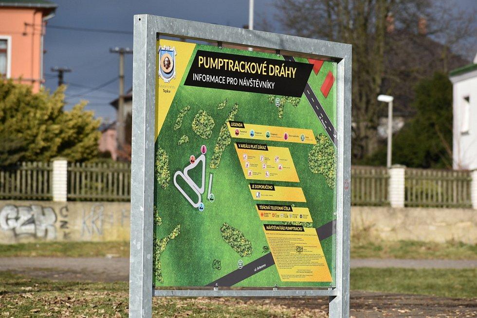 Pumptrackové hřiště v Teplicích.