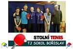 Naděje oddílu stolního tenisu Sokol Bořislav s Jiřím Kabourkem
