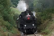 Parní lokomotiva č. 423.0145 z Jaroměře, zvaná Velký bejček