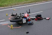Havarovaný motocykl (ilustrační foto).