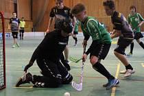 Florbalový turnaj starších žáků: Teplice - Turnov (zelené dresy)
