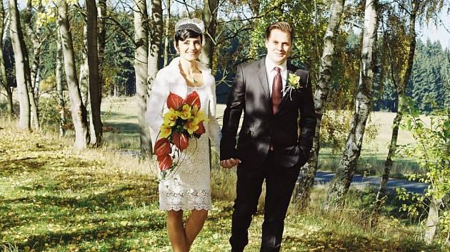 Tomáš Savka s manželkou Zuzkou.