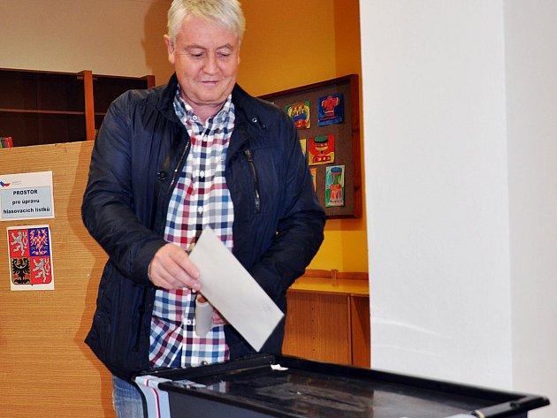 Starosta Zdeněk Matouš zKrupky uvoleb.