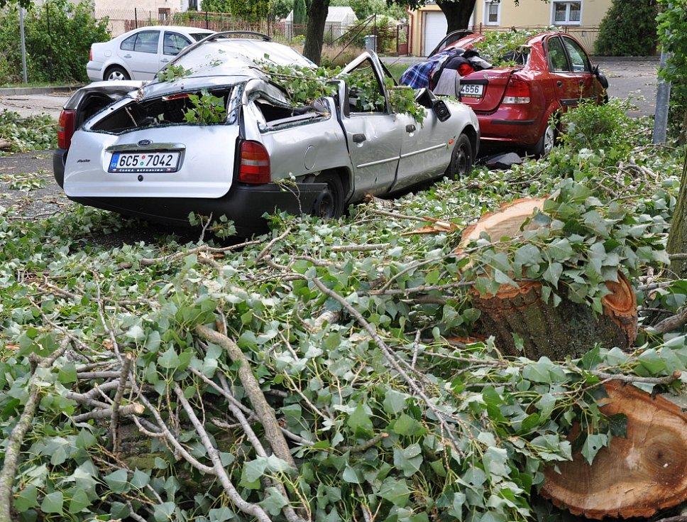 Následky vichru v Oseku