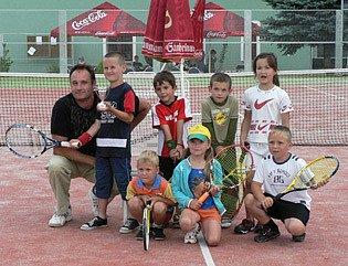 Mladí tenisoví talenti.