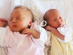 LUCIE A KAROLÍNA KRATOCHVÍLOVY se narodily Lucii Kratochvílové z Hrobu 2. září v 16.44 a v 16.45 hod v ústecké porodnici. Lucie měřila 46 cm a vážila 1,970 kg a Karolína měřila 46 cm a vážila 1,810 kg.