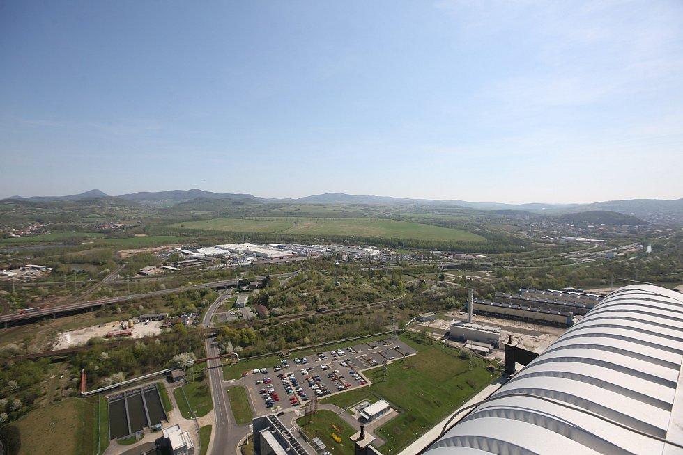 Vyhlídková terasa v ledvické elektrárně.