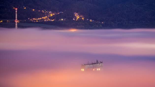 Foto č. 1. Ranní podzimní výhledy z Doubravky v Teplicích.