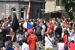 Demonstrace Duchcov 22. června