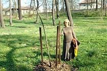 Věra Bartošková v duchcovské zámecké zahradě.