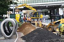 Rekonstrukce kanalizace v Alejní ulici v Teplicích.