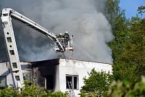 Požár rodinného domu v Dubí, Smetanova ulice, pátek 18. května 2012
