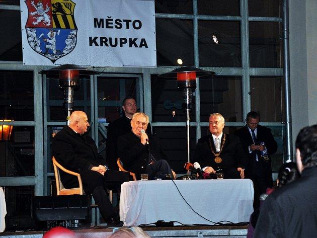 Prezident Zeman vKrupce