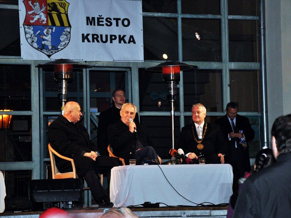 Prezident Zeman v Krupce