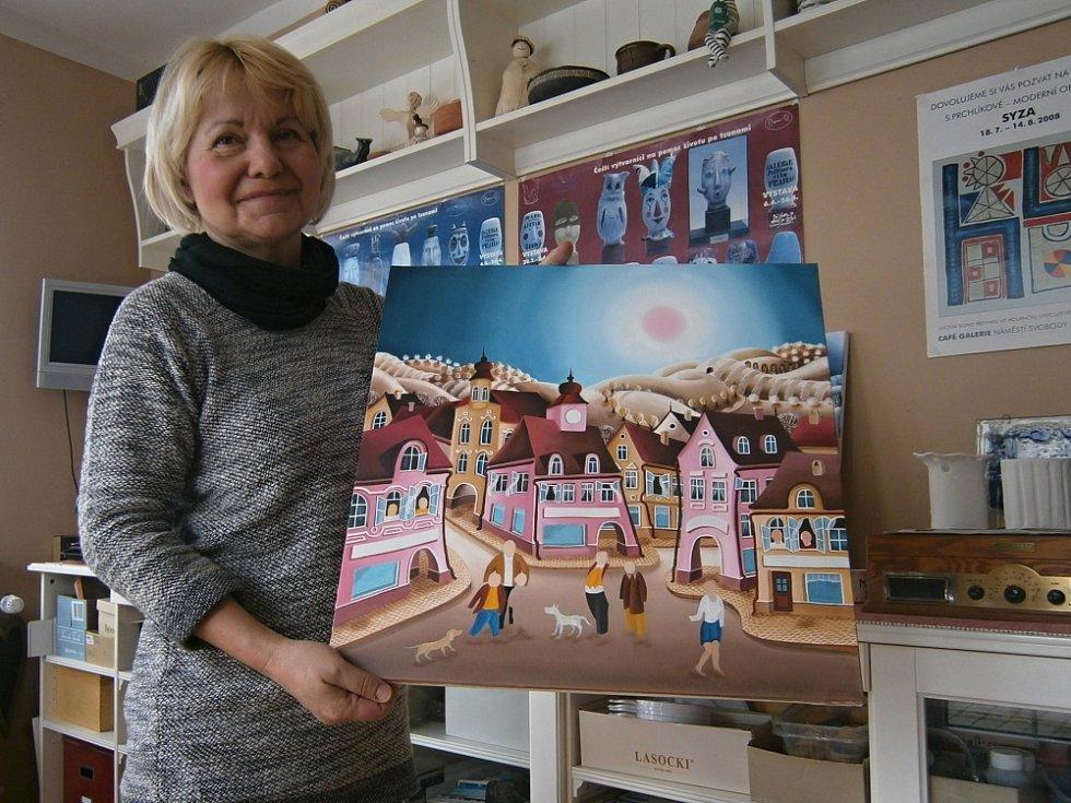 Sylva Prchlíková svými výtvarnými pracemi otevírá lidem okna do své duše