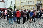 Na Zámeckém náměstí se o víkendu konal První teplický masopust spojený.