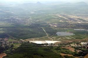 Letecký pohled na lokalitu Fučík