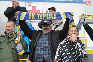 Diváci na fotbale Teplice - Opava