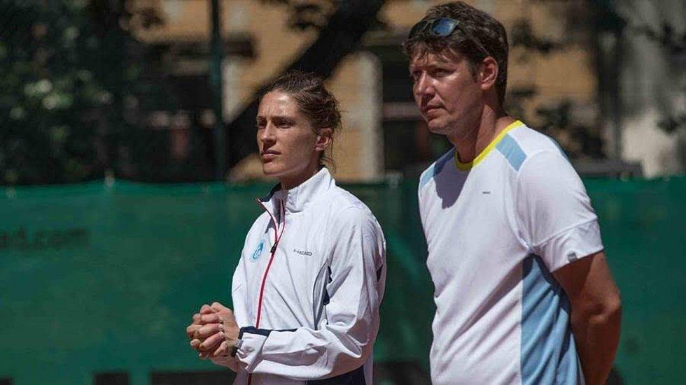 Šéftrenér TC BW Dresden Blasewitz Tomáš Jiřička a tenistka Andrea Petkovicová.