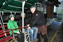Výlet lanovkou na Komáří vížku na Štědrý den v roce 2018.