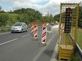 Oprava mostu směr Kozlíky.