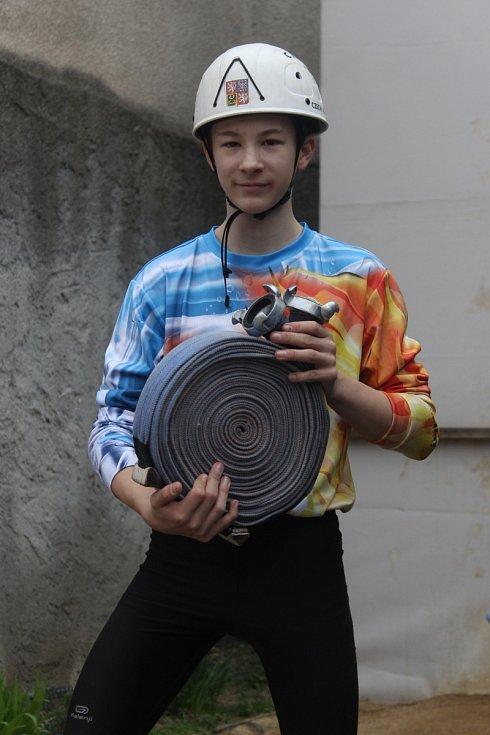 Adam Šíp, vyznavač požárního sportu z Duchcova