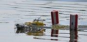 """Soutěž lodních modelářů v Duchcově. Tradiční závody uspořádal klub lodních modelářů """"Royal Dux"""" Duchcov"""