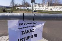 Skatepark Teplice, zákaz vstupu
