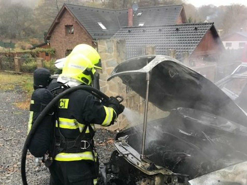 Likvidace požáru v Domaslavicích.