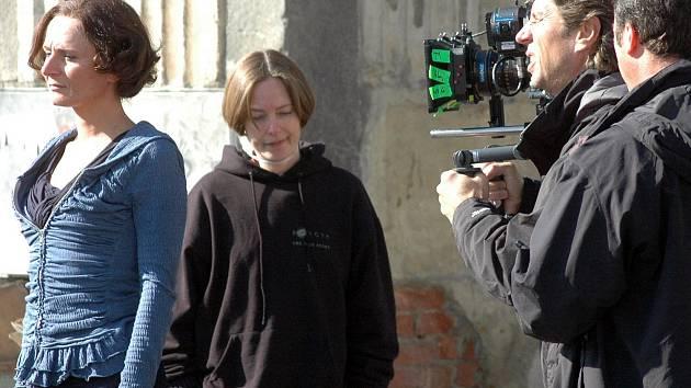 Natáčení filmu Missing v Duchcově.