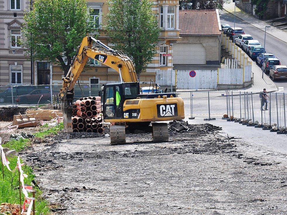 Stavba nového Kauflandu v Teplicích