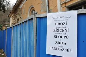 Hadí lázně v Teplicích už řadu let chátrají.