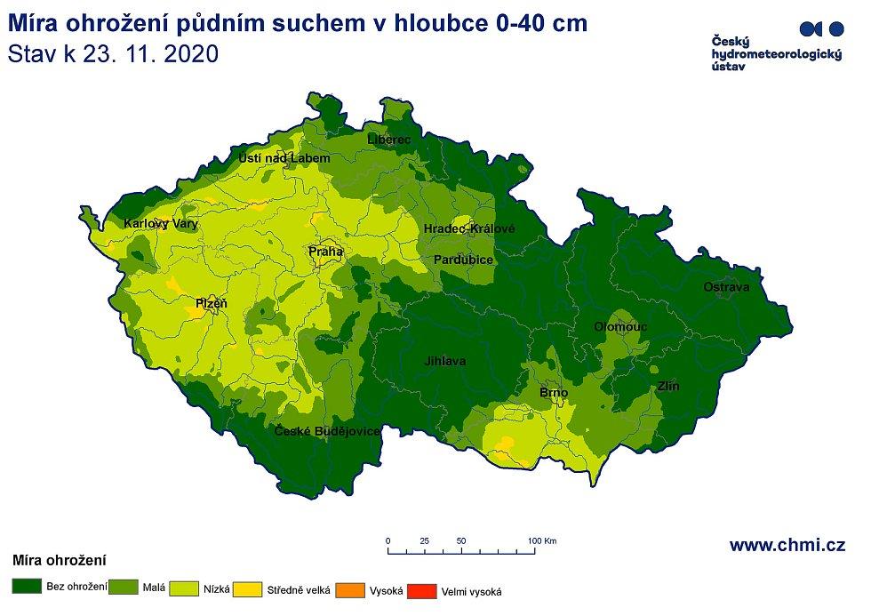 Stav sucha v ČR.