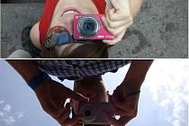 Fotografie dokládá fakt, že s přítelem máme oči jen pro sebe :) Fotku jsme oba zároveň pořizovali v Karlových Varech a to dne 30.7.2012, kde jsme navštívili 47. ročník mezinárodního filmového festivalu.