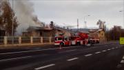 Zásah u požáru na nádraží.