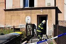 Výbuch plynu v domu čp 438 v Ruské ulici v Dubí