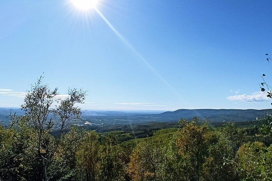 Výhled z Krušných hor.