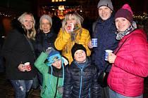Vánoční trhy na Zámeckém náměstí v Teplicích