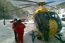 Zásah vrtulníku na Bouřňáku