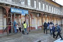 Vlakem na Moldavu v Krušných horách