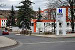 Hornická nemocnice s poliklinikou Bílina.
