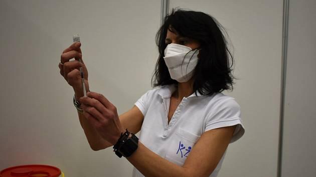 Očkování v Teplicích.