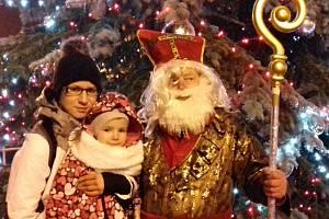 Rozsvícení vánočního stromu v Proboštově.