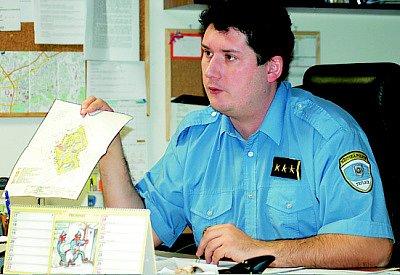 Michal Chrdle, ředitel teplických strážníků