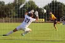 TJ Krupka (žluté dresy) - FC Chomutov