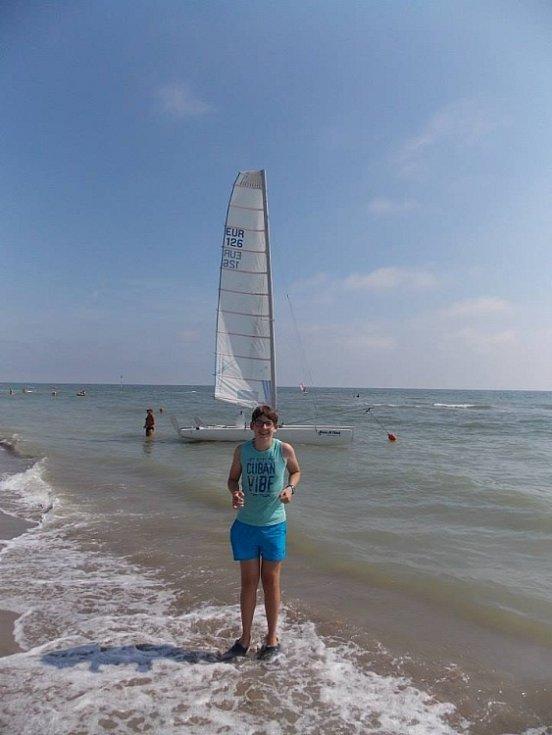 Na fotkách je můj syn Filip (13 let) v Itálii-Lido degli Estensi. Eva Ranningerová