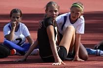 Z dětských atletických závodů v Bažantnici v Duchcově.