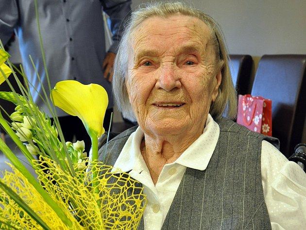 Úctyhodných 101 let slaví Marta Hejduková z Teplic