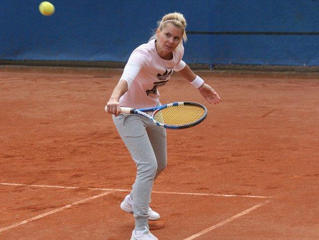 Finalistka tenisového turnaje Masarykovy nemocnice Ústí nad Labem Simona Rieglová.