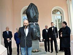 Slavnostní odhalení busty ruského cara Mikuláš I. v prostorách Císařských lázní v Teplicích